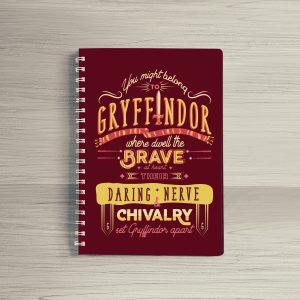 Sổ tay lò xo – Gryffindor