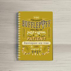 Combo Ly sứ khắc nổi và Sổ tay Hufflepuff