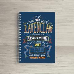 Combo Ly sứ khắc nổi và Sổ tay Ravenclaw
