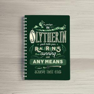 Combo Ly sứ khắc nổi và Sổ tay Slytherin
